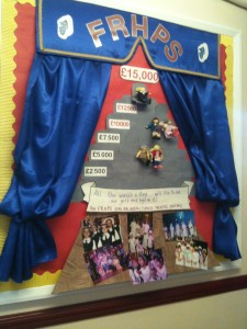 Creating school notice boards....more unpaid work undertaken by mothers....